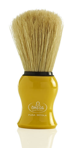 Omega 10065 Pure Bristle Shaving Brush (Yellow) [Personal Care] by OMEGA Yellow
