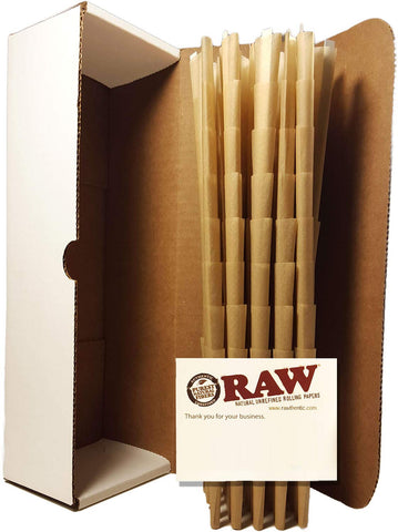RAW Pre-Rolled Cones With Filter (200 Pack) Pure Raw Hemp