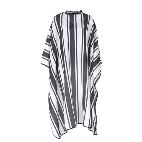 Anself Hairdressing Apron Salon Barber Color Gown Waterproof Hair Dyeing Cutting Cape Anti-static (Stripe) White