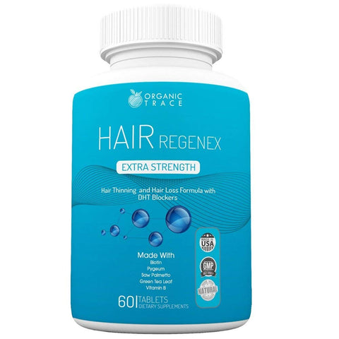 Hair Regenex- The Ultimate Hair Loss Treatment with DHT Blocker Ingredients & All-Natural Ingredients That Work! Quickly and Naturally Grow Thicker, Fuller and Healthier Hair. Best Hair Treatment!