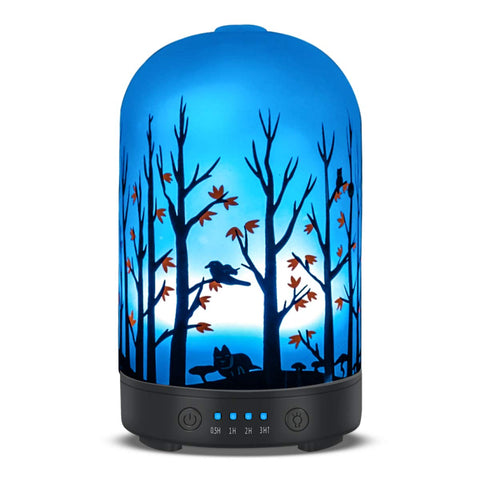 Aromatherapy essential oil diffuser 100ml cold mist humidifier without water automatic closing 7 color LED lamp 4 timing set for Home Office Yoga water therapy Woods