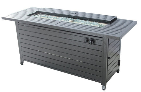 Legacy Heating vc-CDFP-S-CB Gas Aluminum Fire Table, 56.7  x 21.3  x 24 , Black