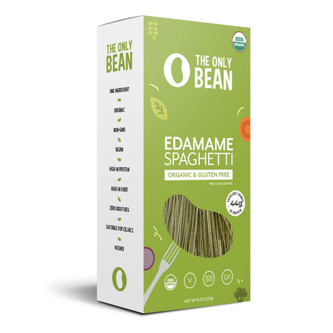 The Only Bean - Organic Edamame Spaghetti Pasta, Gluten Free Noodles (8oz) (1 Pack)