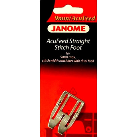 AcuFeed Straight Stitch Foot #202102005 For Janome 9mm Max Stitch Width Machine