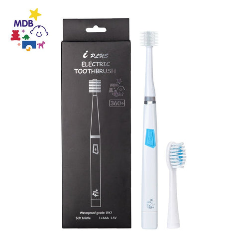 Kids Toothbrush, MDB 360+ Iplus Children Electric Toothbrush Soft Dupont Bristles,Perfect for 3 years and up (Pink) (Blue) Blue