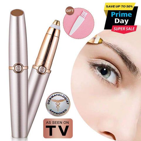 Eyebrow Hair Remover Electric Eyebrow Razor Trimmer Epilator for Women Portable Lightweight Eyebrow Pencil Razor Tool Battery Operated (Battery Not Included)... Rose Gold