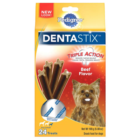 Pedigree DENTASTIX Dental Treats Dogs Beef Flavor 168 Treats Toy/Small (5-20 lb Dogs)