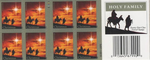 The Holy Family double-sided booklet of 20. Forever Christmas stamps 2012 1 Pack