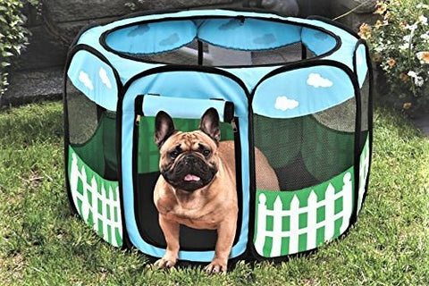 Etna Pet Puppy Dog Playpen Exercise Pen Kennel Tent Play Pen Foldable Indoor Outdoor Large