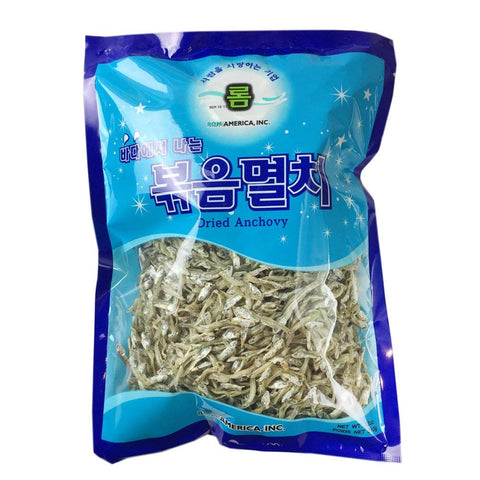 ROM AMERICA Korean Middle Size Dried Anchovies 12 oz (340g) Anchovy for Soup Stock, 볶음멸치