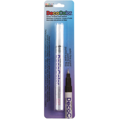 Uchida 130-C-0 Marvy Deco Color Extra Fine Opaque paint Marker, White Оne Расk