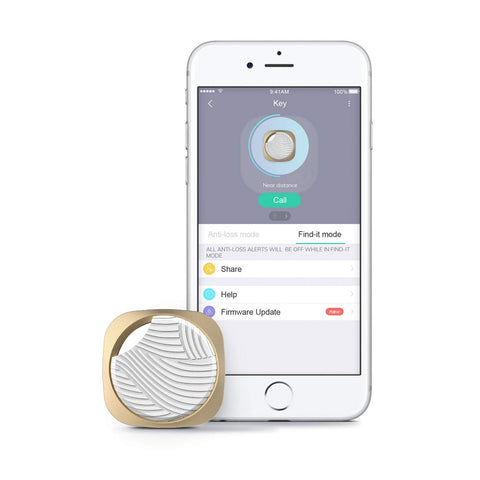 Key Finder, Wonbo Anti-Lost Bluetooth Tracking Locator for Keys, Phones, Wallets, Bags with APP Control Compatible with iOS & Android (New-White) Golden