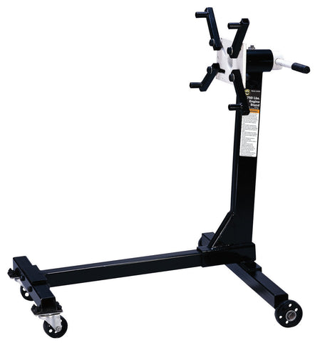 Omega 30750 Black H-Type Engine Stand - 750 lb. Capacity
