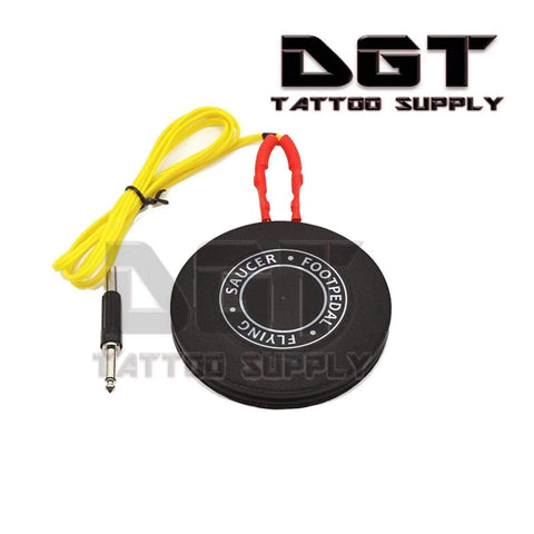 Flying Saucer Tattoo foot pedal (Black)