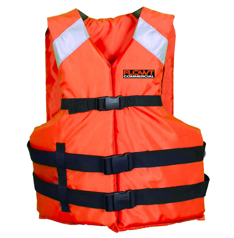 Flowt Type III Commercial All Purpose Life Vest - USCG Approved Oversize Adult Orange