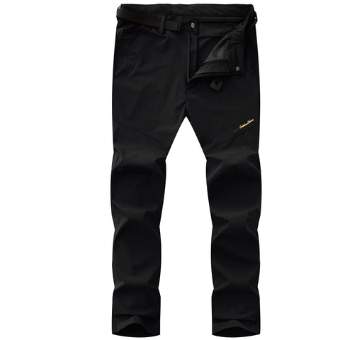 "Freie Liebe Outdoor Mens Lightweight Elastic Waist Hiking Pants Easy Wash and Dry Quickly 02 Thin Black US XL(Tag 3XL waist 34.5""-36.5"")"