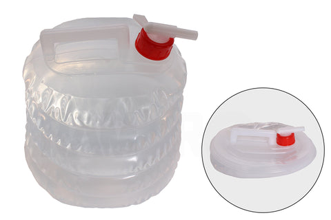 Collapsible Water Jug (5 Quarts/1.25 Gallon) Camping, Hiking, Hunting, Fishing, Climbing, Emergency & Disaster Kits - Water Shut Spout