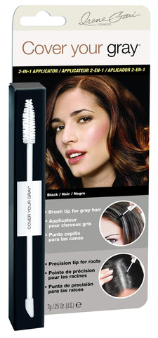Daggett & Ramsdell Cover Your Gray 2-in-1 Mascara Wand & Sponge Tip Applicator, Black, 0.5 Ounce