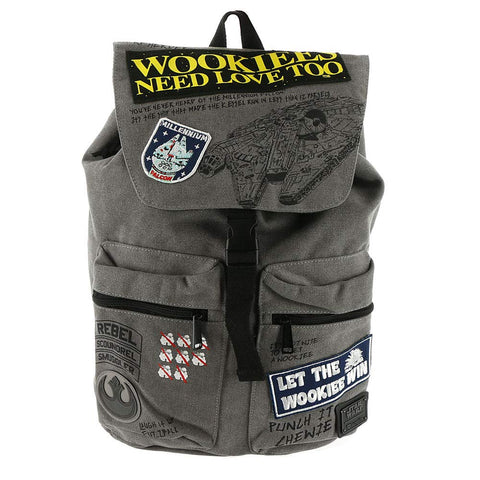 Loungefly x Star Wars Rebel Wookie Patch Backpack One Size Grey
