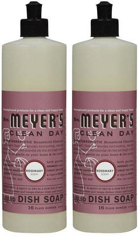 Mrs. Meyer's Clean Day Liquid Dish Soap - 16 oz - Rosemary - 2 pk