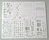 Journal Stencils Various DIY Drawing Book Plastic Planner Stencils (Drawing Stencils 16P)