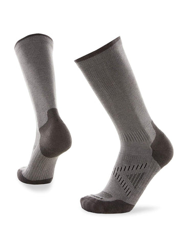 Le Bent Le Sock Hike Light Crew | Merino Wool Mid-Calf Moisture Wicking Hiking & Running Socks Gunmetal Gray X-Large