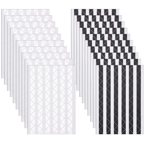 Bememo 2040 Pieces Photo Corners Self Adhesive for Scrapbook Picture Album (Black and White) Black and White