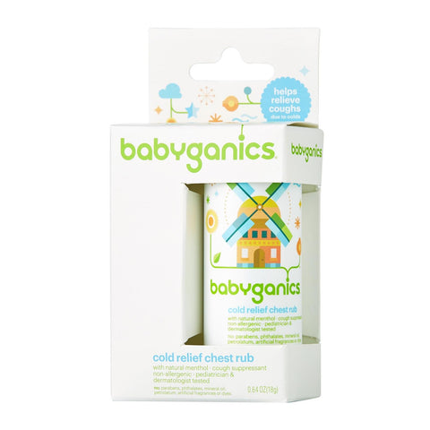 BabyGanics Say Aahhh! Cold Relief Chest Rub Stick 0.64 oz