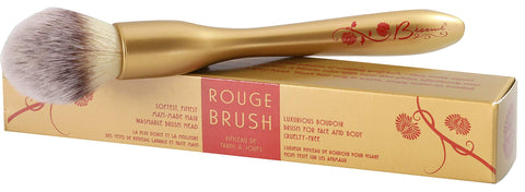 Besame Cosmetics - Rouge Brush - Blush Brush - Glides Smoothly on Skin, Effortlessly Blends & Buffs Your Blush, Easy to Grasp Handle