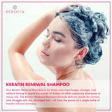 Keratin Renewal Shampoo - Repairs Damaged Hair & Promotes Growth with Follicle Stimulating Ingredients - Color Safe & Infused with Keratin Amino Complex - 8 Fl Oz