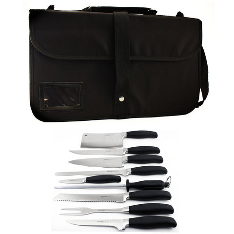 Berghoff Folding Wrap 10-Piece Knife Set One Size Black