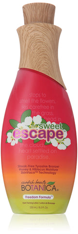 Swedish Beauty Tyrosine Bronzer Tanning Lotion, Sweet Escape, 8.5 Fluid Ounce
