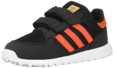 adidas Originals Kids' Forest Grove Cf Running Shoe Toddler (1-4 Years) 6.5 Toddler Black/Active Orange/Easy Yellow
