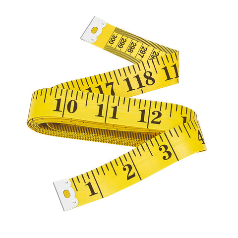 Bestty 120 inches Double Scale Soft Tape Measure Flexible Ruler for Weight Loss Medical Body Measuremen Sewing Tailor Cloth Ruler (300cm / 120inch) 1 PACK/Yellow