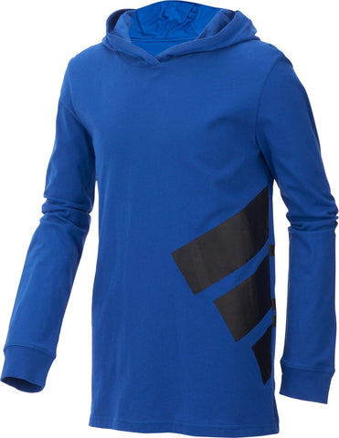 adidas Boy's Hoodie Blue/Black Small