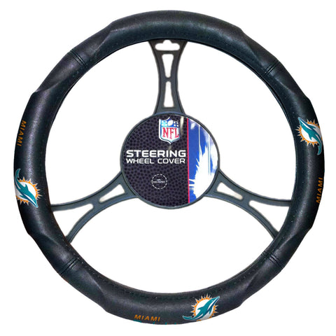 The Northwest Company Officially Licensed NFL Car Steering Wheel Cover Miami Dolphins