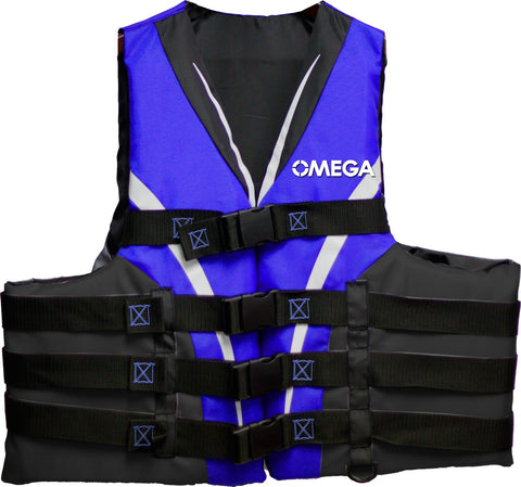 Flowt Type III Extreme Sport Life Vest Small/Medium Blue