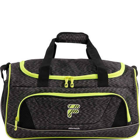 Fila Victory 2.0 Gym Sports Bag, Grey/Neon Lime, One Size