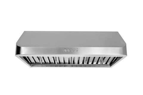 Thorkitchen HRH3002U 30  Under Cabinet Range Hood with 900 CFM Push Control, Stainless Steel