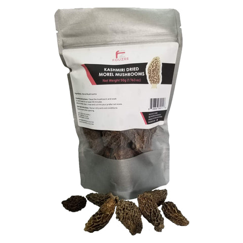 Fouzee Kashmiri Dried Morel Mushrooms 50g (1.763 oz) 2-3 cm