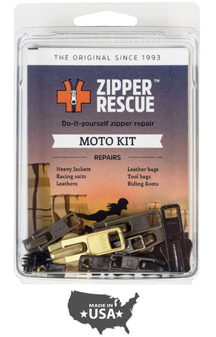 Zipper Rescue Zipper Repair Kits – The Original Zipper Repair Kit, Made in America Since 1993 (Moto)