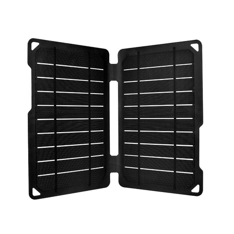 Renogy Portable E.Flex Monocrystalline 10W Solar Panel with USB Port for Charging, Hiking and Biking Black
