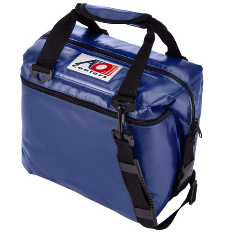 AO Coolers Sportsman Vinyl Soft Cooler with High-Density Insulation 12-can Royal Blue