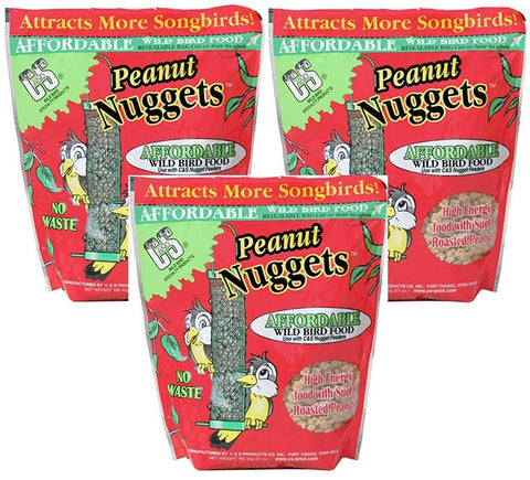 C&S Peanut Nuggets (Pack of 3) 81 Ounces