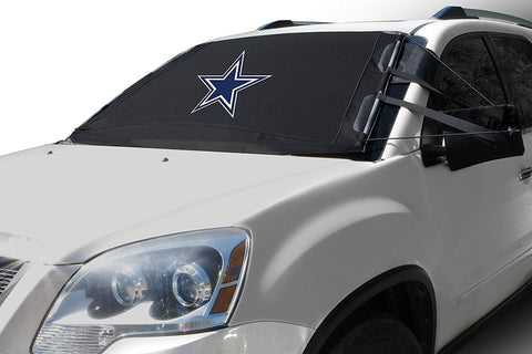 "FrostGuard NFL Premium Winter Windshield Cover for Snow, Frost and Ice - Cold Weather Protection for Your Vehicle – Dallas Cowboys, Standard Size Standard – 60"" x 40"""