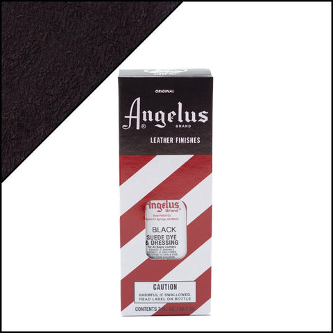 Angelus Suede Dye 3 Oz. Color - Black Basic