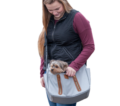 Pet Gear R&R Sling Carrier for Cats/Dogs, Storage Pockets, Removable Washable Liner, Zippered Top with Mesh Window Fog