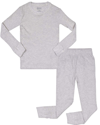 Only Boys Warm Long John Thermal Underwear Top and Pant Set Heather Oatmeal 2T