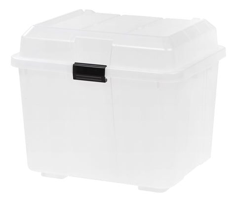 IRIS Hinged Lid Utility Trunk, 4 Pack, Clear 4-Pack