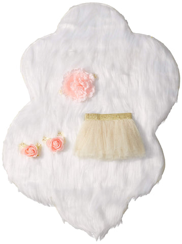 TOBY Baby Girls 4pc Tutu Box Set Newborn Ivory
